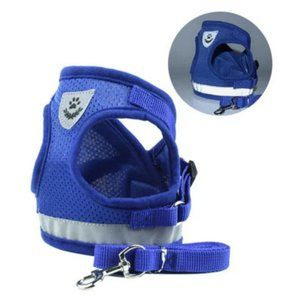 Petyfy™ Reflective Dog Harness + Leash - Blue